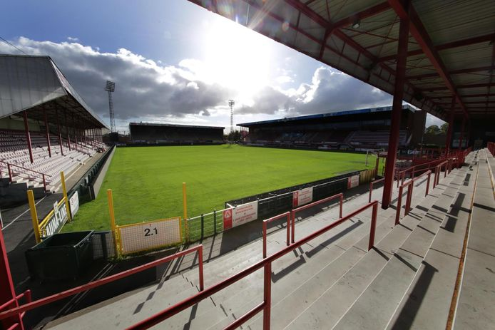 Het stadion van Kv Kortrijk