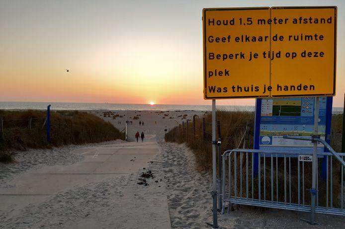 Het strand van Westland.