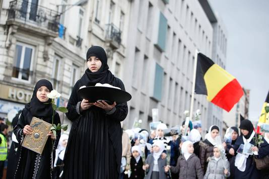 Een herdenkingsmars in 2012 voor imam Abdellah Dahdouh.
