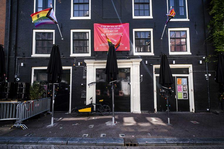 Club Nyx aan de Reguliersdwarsstraat blijft komend weekend dicht vanwege de oplopende besmettingen in Amsterdam. Beeld ANP