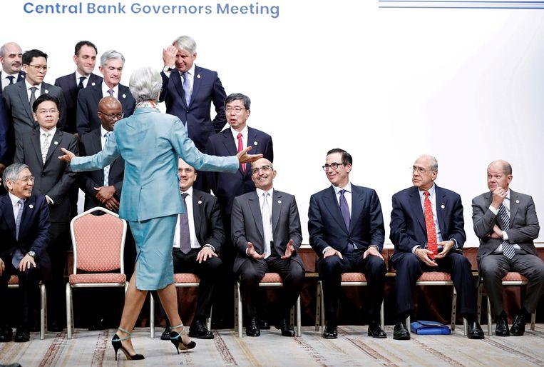 Christine Lagarde bij de Central Bank Governors Meeting in Japan in 2019.  Beeld REUTERS