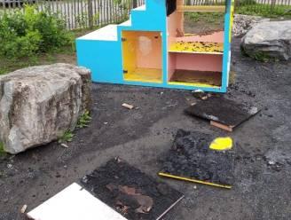 Amper zes maanden na ingebruikname: speelgoedruilkastje voor kansarme gezinnen volledig vernield
