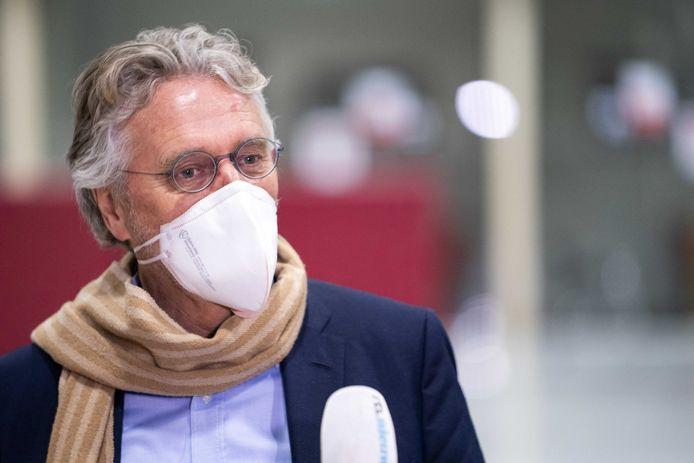 Burgemeester John Jorritsma van Eindhoven dinsdag bij het Veiligheidsberaad in Utrecht
