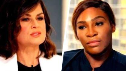 """""""Serena, heb je er nu spijt van je racket kapot geslagen te hebben?"""", waarna de ijzig kille tante in Williams naar boven komt"""