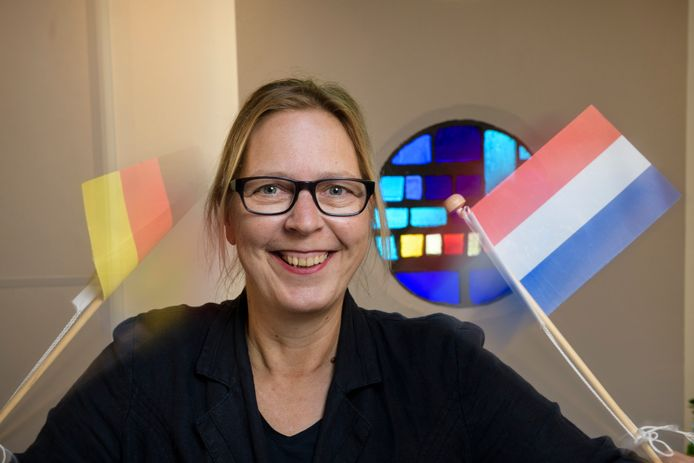Aan enthousiasme bij het promoten van de Duitse taal geen gebrek bij Alexandra Koch.