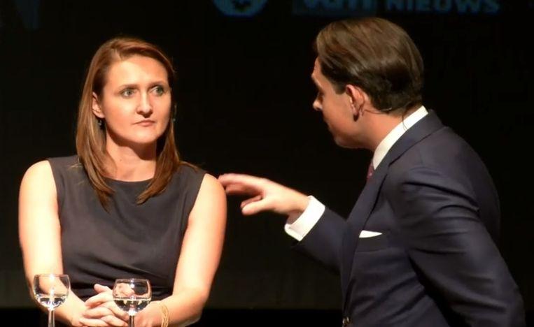 Rutten gaat in debat met Vlaams Belang-voorzitter Van Grieken. Beeld rv