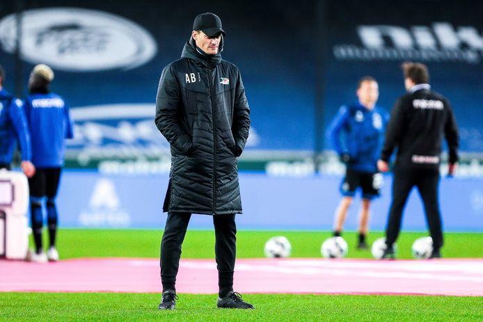 Alexander Blessin zag zijn spelers een goeie beurt maken tegen titelfavoriet Club Brugge