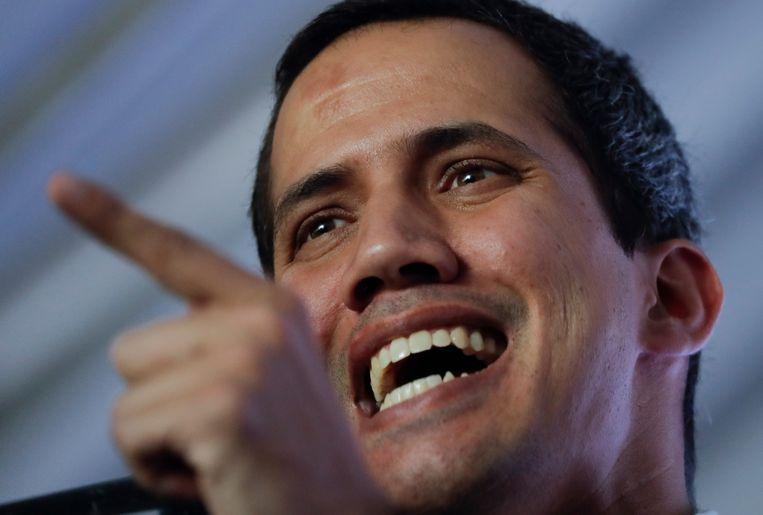 Oppositieleider en Kamervoorzitter Juan Guaidó  Beeld AP
