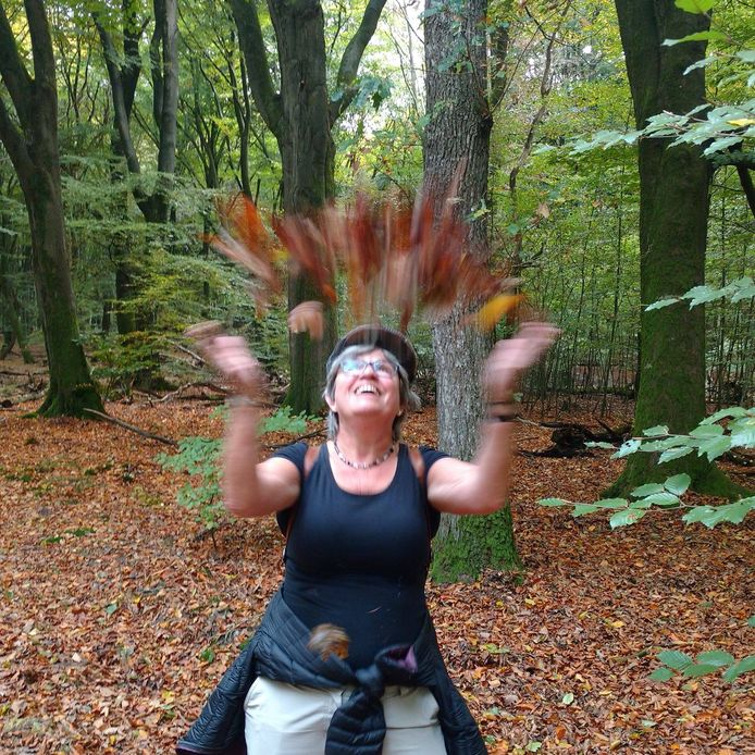 Christiane Klavers is dol op wandelen, maar lopen in haar eentje vindt ze niet zo gezellig.