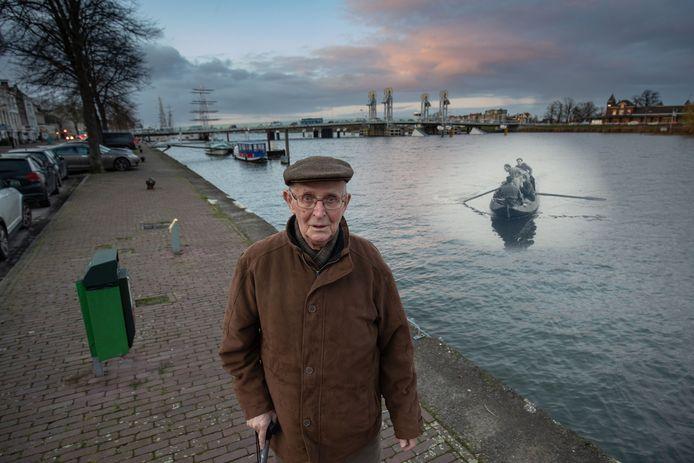 Warner Pap, geboren in 1927, is de man die als jongen op 17 april 1945 de Canadese bevrijders van Kampen met zijn punter de IJssel overzette.
