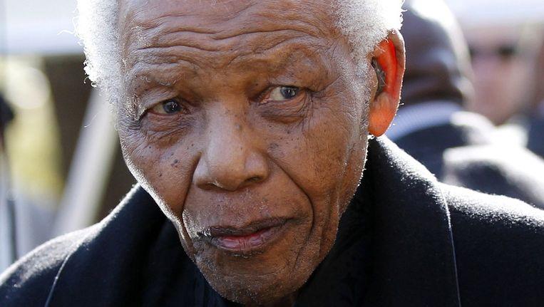 Nelson Mandela in 2010. Beeld epa