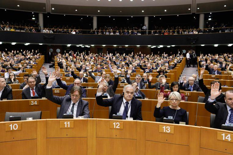 De stemming in het parlement. Beeld EPA