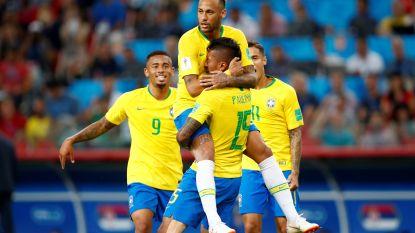 Nog niet Goddelijk, maar Braziliaanse kanaries plaatsen zich wel voor 1/8ste finale tegen Mexico