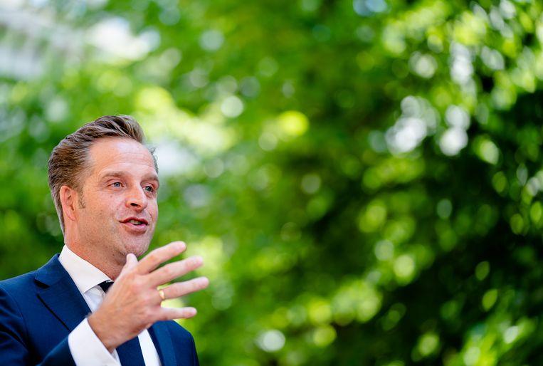 Demissionair minister Hugo de Jonge van Volksgezondheid, Welzijn en Sport (CDA). Beeld Hollandse Hoogte /  ANP