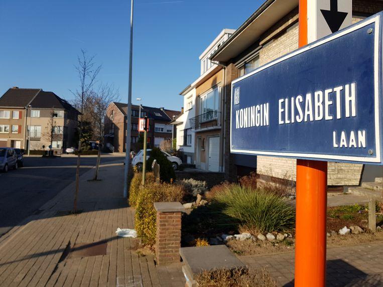 De koningin Elisabethlaan in de Dynastiewijk. Het is een van de negen straten die vernoemd werden naar een vrouw.