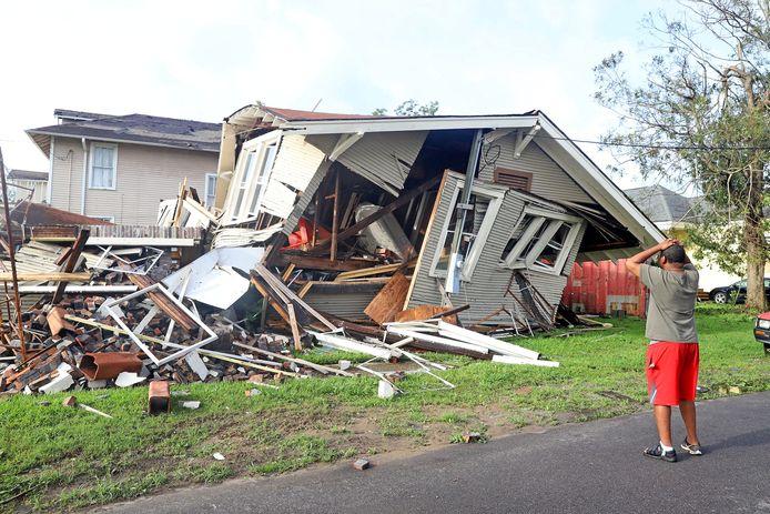 Ook huizen moesten eraan geloven in New Orleans.