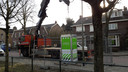 In de Asterstraat in Oss werden na de dubbele aanslag tijdelijk bewakingscamera's neergezet.