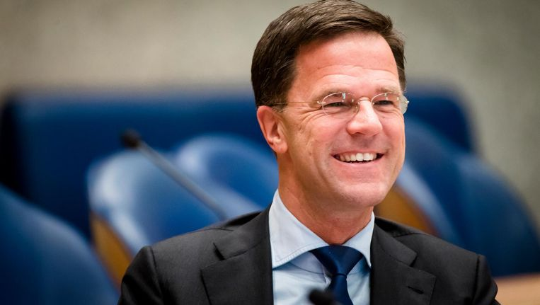 Premier Mark Rutte tijdens het debat in de Tweede Kamer over de informele Europese top. Beeld anp