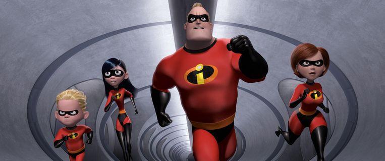 Een gezin superhelden.