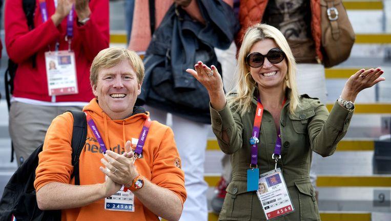 Koning Willem-Alexander en koningin Máxima tijdens Olympische Spelen 2012 in Londen. Beeld anp