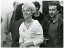 Tijdens één van haar eerste Kom op Tegen Kankers, samen met regisseur Stijn Coninx.