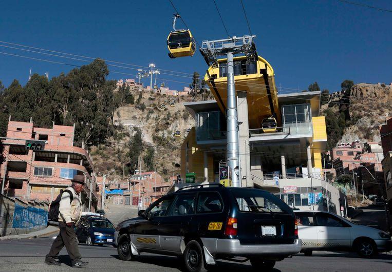 Een station in La Paz (Bolivia). Beeld REUTERS