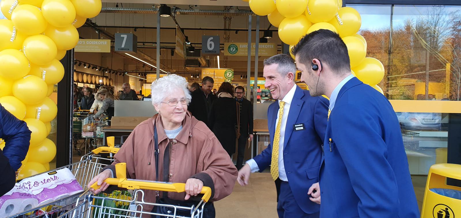 Steven en Philip heten de klanten welkom.