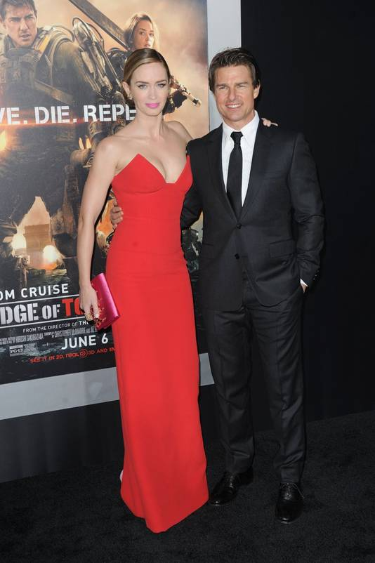 Emily Blunt en Tom Cruise