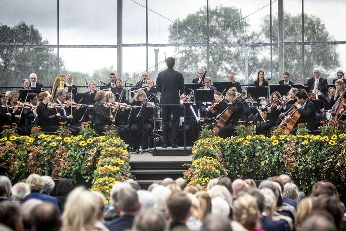 Archieffoto van het jaarlijkse openluchtconcert gehouden op landgoed Wilmersberg.