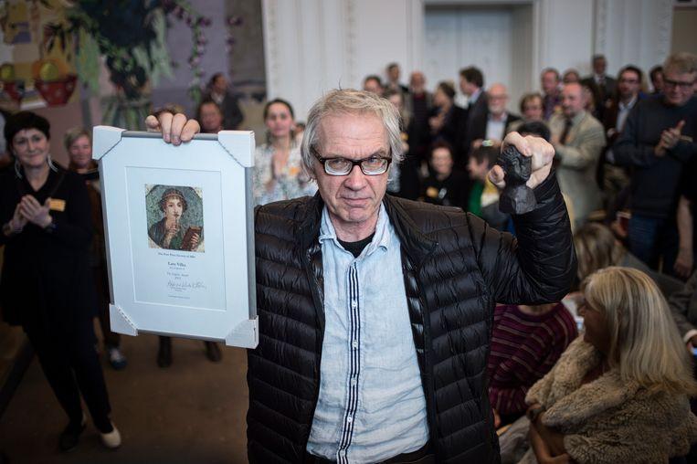 Lars Vilks kreeg in 2015 een prijs voor zijn moed. Beeld EPA