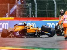Le terrible crash de Lando Norris qui a provoqué l'interruption des qualifications du Grand Prix de Belgique