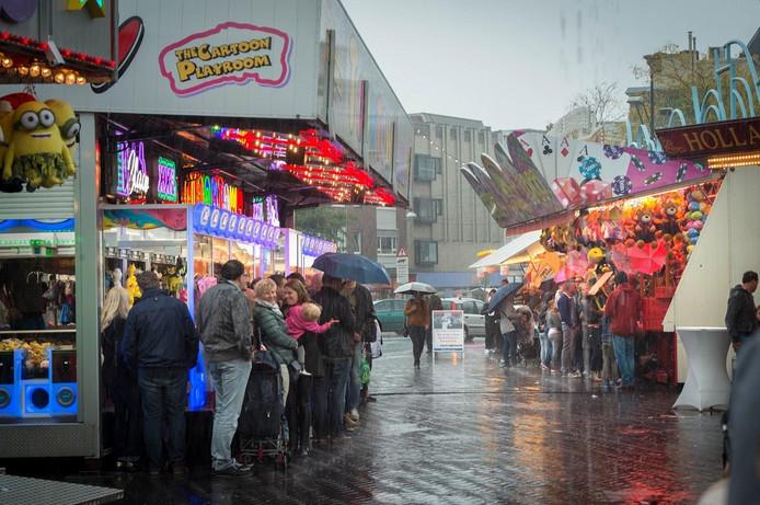 Regen beheerste het kermisweekend in Nijmegen.