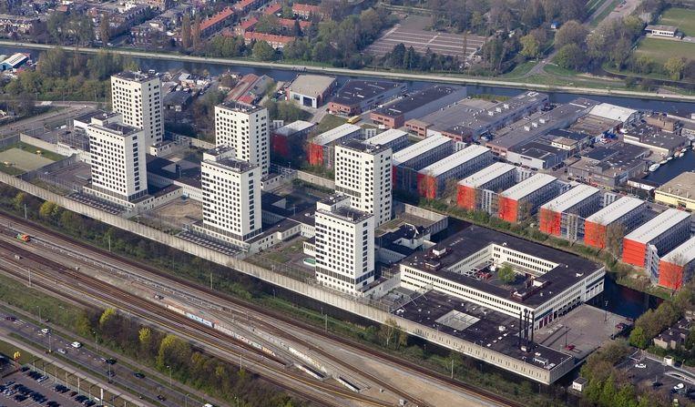 Luchtopname van De Bijlmer Bajes uit 2007. Beeld anp
