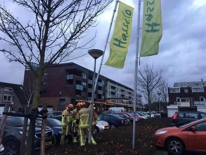 De brandweer in actie in Hengelo