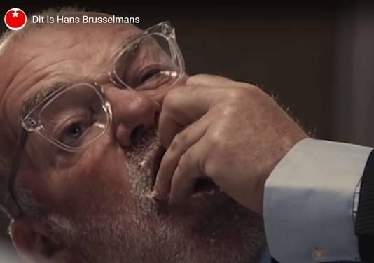 'Dit is Hans Brusselmans', beeld uit de campagnevideo van de SP.