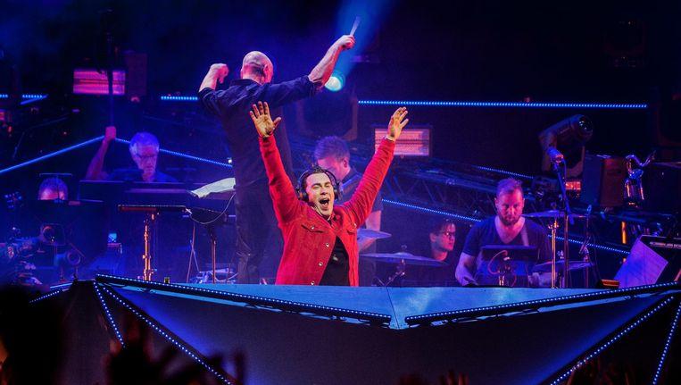 DJ Hardwell en het Metropole Orkest in de Ziggo Dome. Beeld anp
