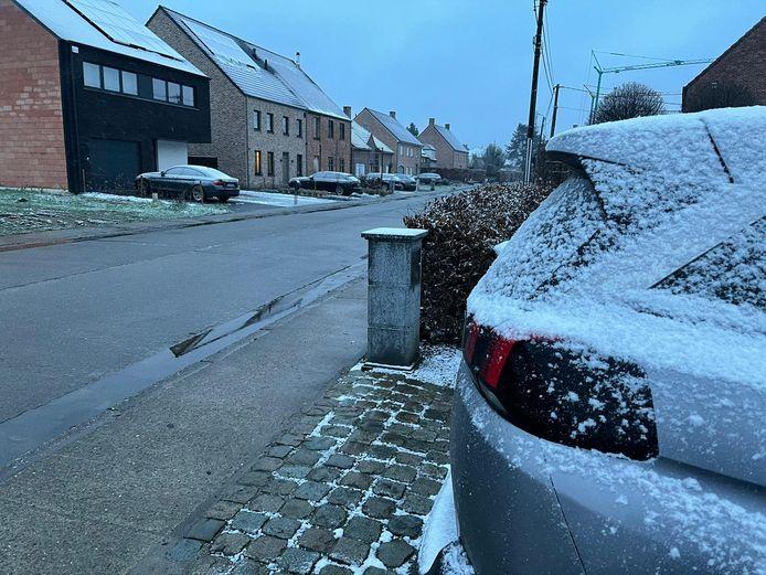 'Sneeuw' in Houwaert.