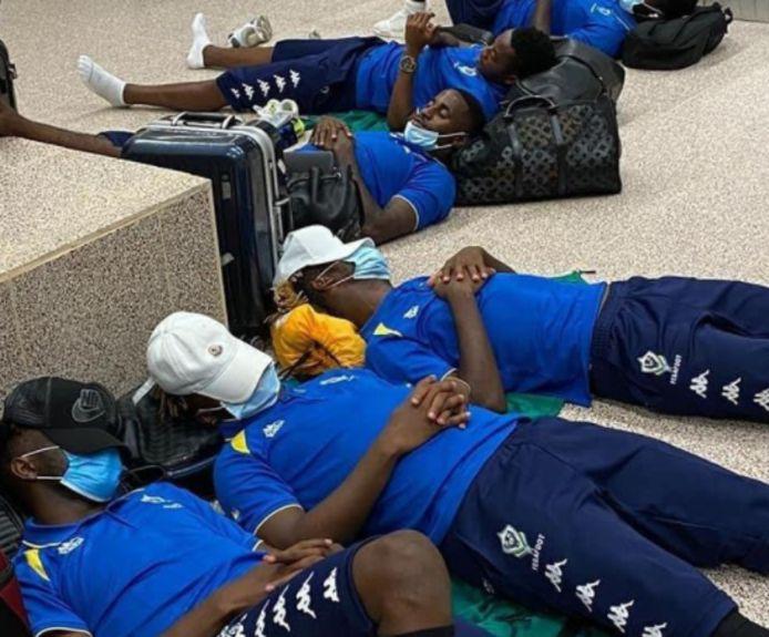 De selectie van Gabon.