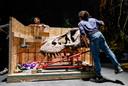 Een schedel van de T-Rex.