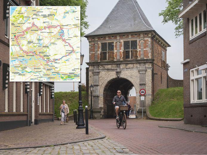 Rondje 'Hollands Glorie' is 116 kilometer lang. Hij is te vinden op route.nl (nummer 1310902) of via de gelijknamige app.