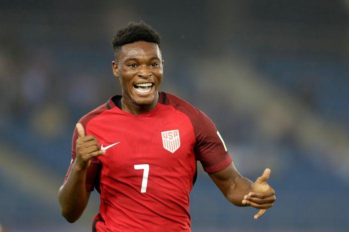 Ayo Akinola is op proef bij PSV. De vleugelspits is 17 en jeugdinternational bij de Verenigde Staten.
