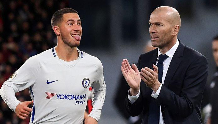 Eden Hazard en Zinédine Zidane.