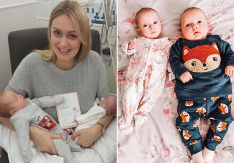 Het verschil in lengte en gewicht tussen beide baby's was opmerkelijk. Beeld Instagram