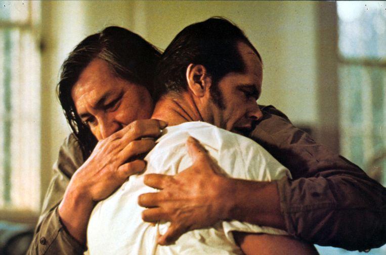 5. Film: One Flew Over the Cuckoo's Nest. 'Die film zat nog weken in mijn hoofd.' Op de foto Will Sampson en Jack Nicholson. Beeld HH