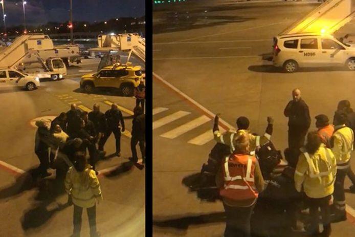 De arrestatie van Jozef Chovanec is vanuit het vliegtuig gefilmd.