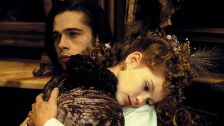 Brad Pitt en Kirsten Dunst in Interview With the Vampire. Beeld