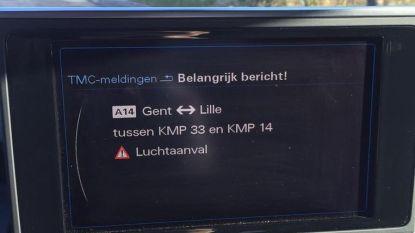 """Verkeersinformatie op gps opnieuw gehackt: """"Vuurgevecht tussen Kortrijk en UZ Gent"""""""