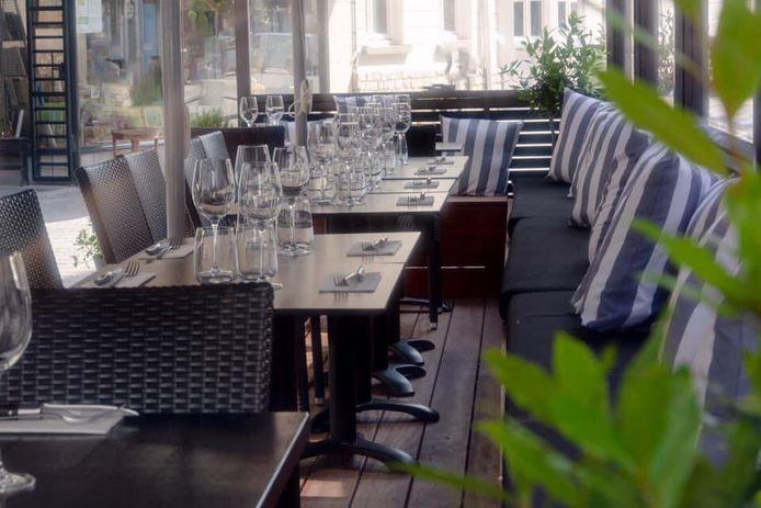 Het restaurant heeft ook een stijlvol terras