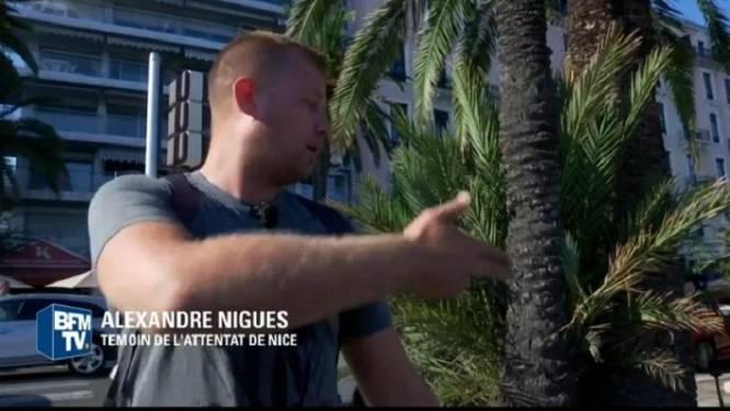 Ook deze man probeerde moordtruck nog te stoppen, maar liet los toen chauffeur dit gebaar maakte