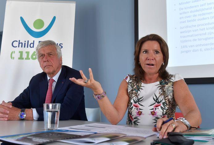 Voorzitter François Cornelis (links) en CEO Heidi De Pauw (rechts).